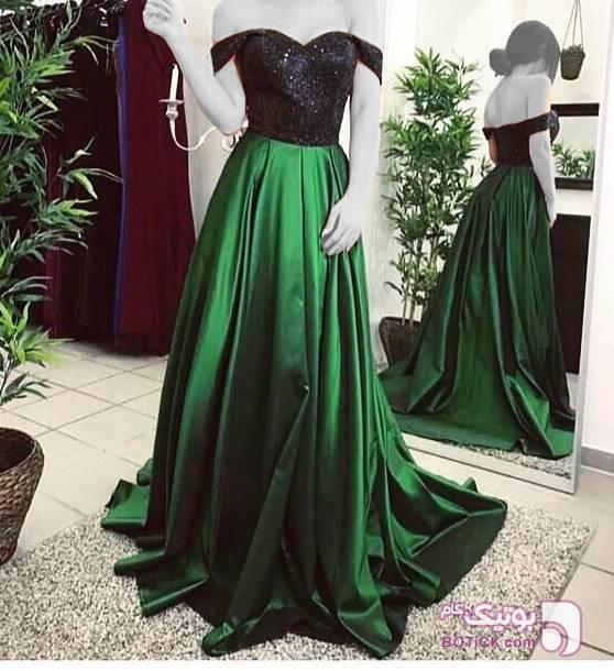 پیراهن مجلسی زنانه سبز لباس  مجلسی