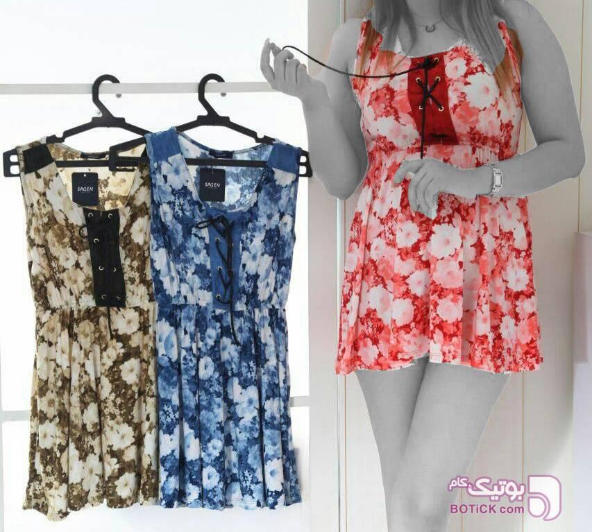 سارافون راحتی آبی لباس راحتی زنانه