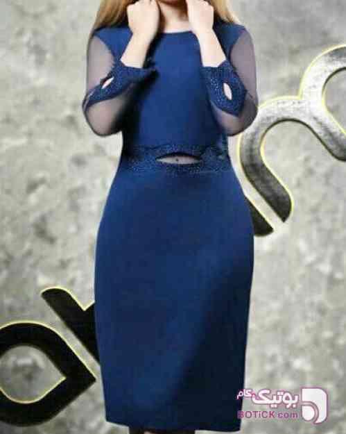 پیراهن مجلسی زنانه آبی لباس  مجلسی