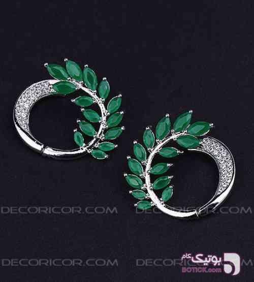 گوشواره Chopard رنگی  سبز گوشواره