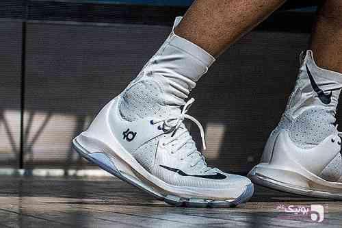 مدل بسیار استثنایی کوین دورانتNike KD 8 سفید کفش ورزشی