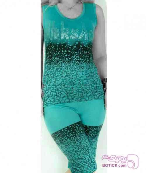 تاپ وشلوارک مدل صخره  مشکی لباس راحتی زنانه