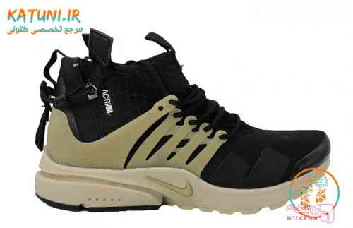 کفش کتانی ساقدار نایک پرستو زیپ دار مشکی كتانی مردانه