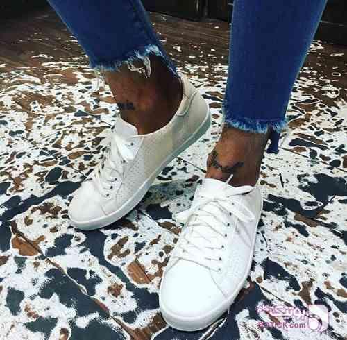 کفش ونس سوزني سفید كفش مردانه
