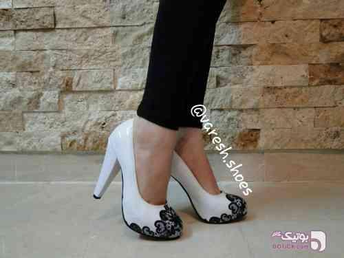 کفش پاشنه بلند 12 سانتی سفید كفش زنانه