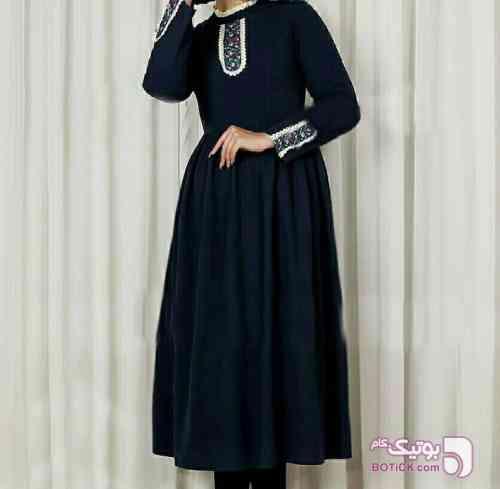 مدل جدید عروسکی سورمه ای مانتو