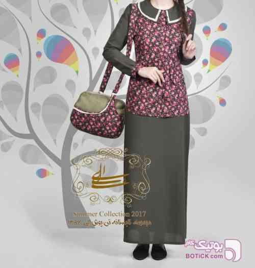 مانتو مدل کت و سارافون سنتی  سورمه ای لباس سنتی