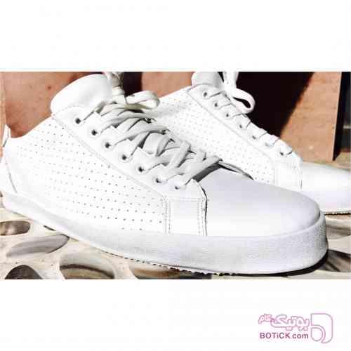 کفش ونس سوزني سفید كتانی مردانه