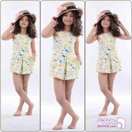 پیراهن دخترانه ZARA KIDS-DRESS زرد لباس کودک دخترانه