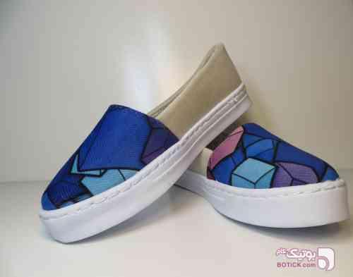 ست کیف و کفش طرح سنتی آبی كفش زنانه