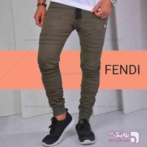 شلوار اسلش مردانه مدل FENDI سبز شلوار مردانه