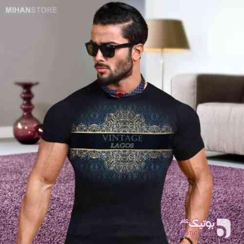 تی شرت مردانه طرح Vintage مشکی تی شرت مردانه