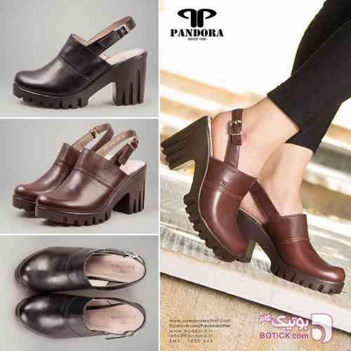 کفش زنانه چرم پاندورا مشکی كفش زنانه