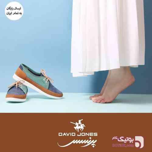 کفش تمام چرم دست دوز ايراني  آبی كفش زنانه