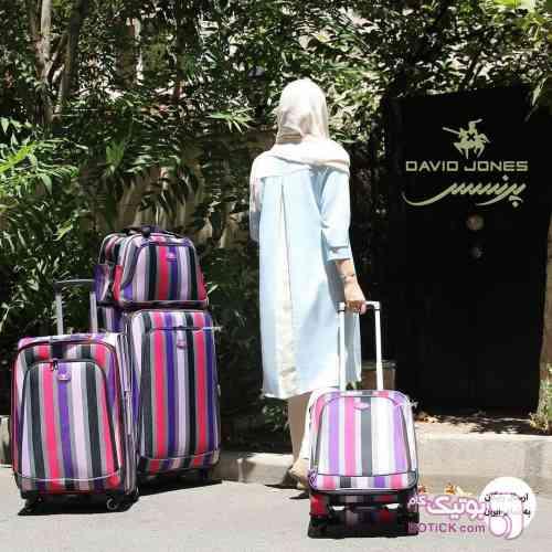 4 سایز چمدان بنفش ساک و کوله