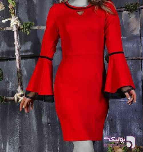 پیراهن مجلسی زنانه قرمز لباس  مجلسی
