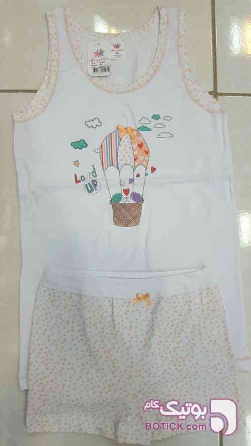 ست بچگانه ایکی یلدیز  سفید لباس کودک دخترانه