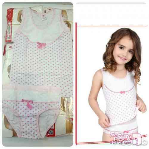 ست بچگانه ایکی یلدیز صورتی لباس کودک دخترانه