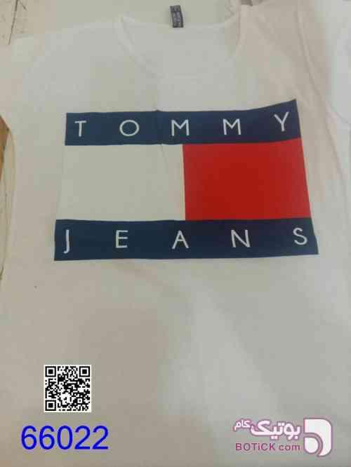 تیشرت زنانه ترک کد 66022 سفید تی شرت زنانه