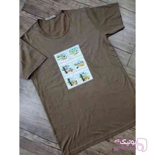 تی شرت با طرح دهه 60 سبز تی شرت زنانه