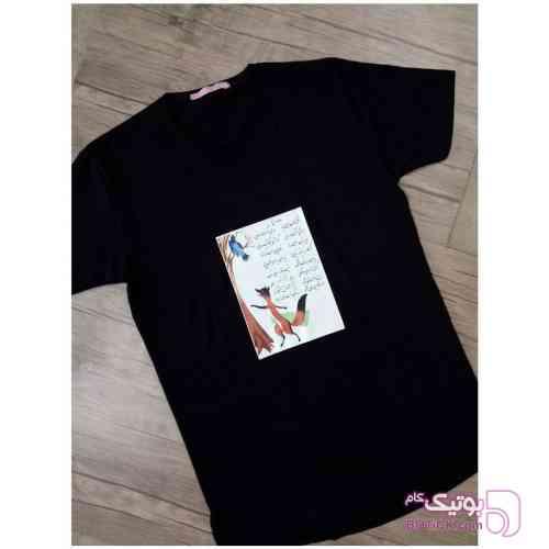 تی شرت با طرح دهه 60 مشکی تی شرت زنانه