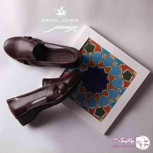 کفش تمام چرم دست دوز طبی ایرانی مشکی كفش زنانه