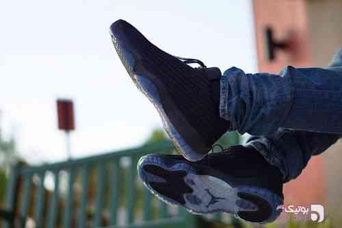 Nike jordan ,future مشکی كتانی مردانه