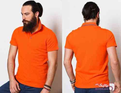تی شرت Sateen نارنجی تی شرت مردانه