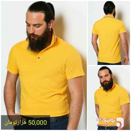 تی شرت Sateen زرد تی شرت مردانه