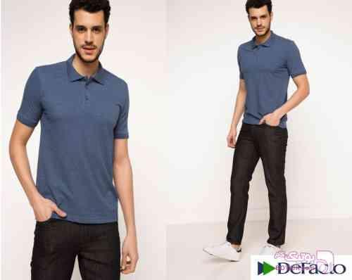 تی شرت مردانه DeFacto سورمه ای تی شرت مردانه
