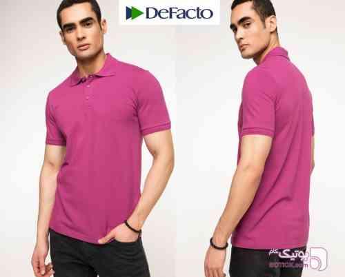 تی شرت مردانه DeFacto بنفش تی شرت مردانه