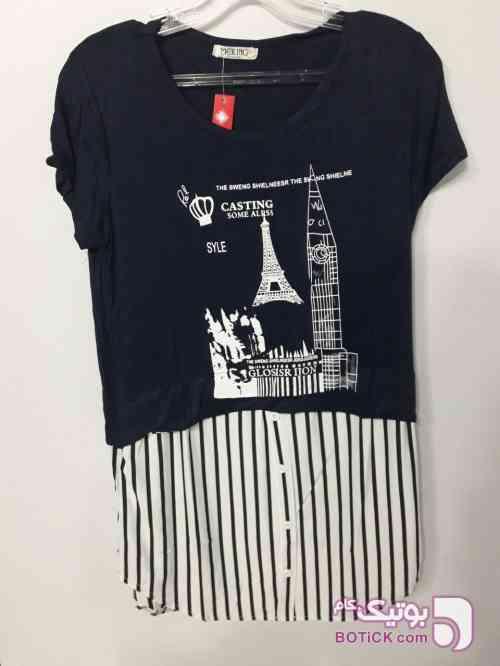 تونیک طرح پاریس  سورمه ای تونیک