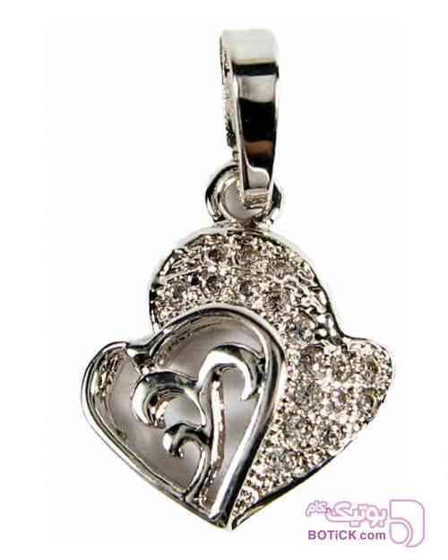 پلاک ژوپینگ طرح قلب نقره ای گردنبند