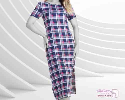 پیراهن زنانه (فروش عمده) سورمه ای پيراهن زنانه