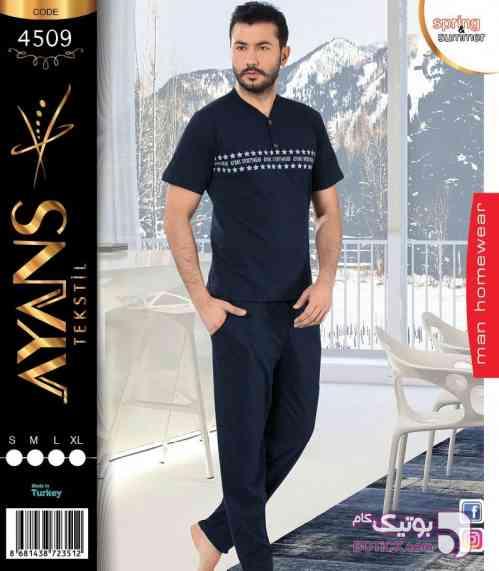 ست مردانه مارک ayans ترکیه مشکی لباس راحتی مردانه