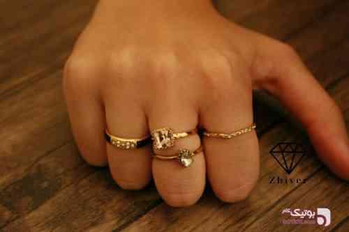 4 عدد انگشتر  طلایی انگشتر