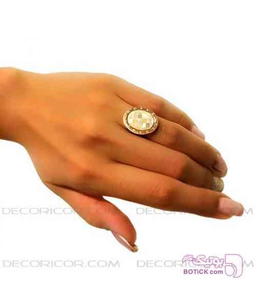 انگشتر صدف chanel  طلایی انگشتر