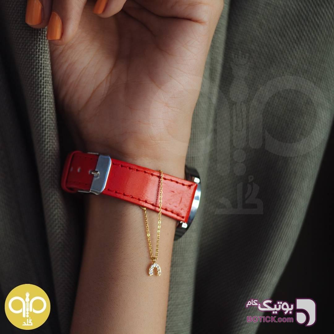 اویز ساعت طلا نعل طلایی دستبند و پابند