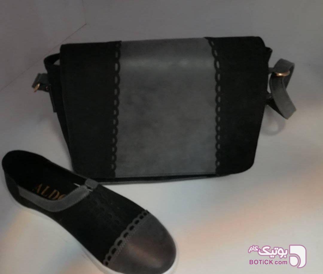 کیف و کفش ست آبی كيف زنانه