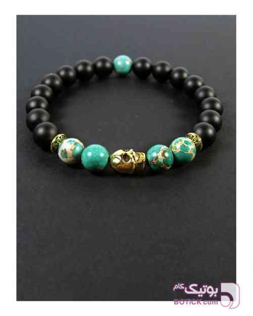 دستبند اونیکس مات و فیروزه سبز دستبند و پابند