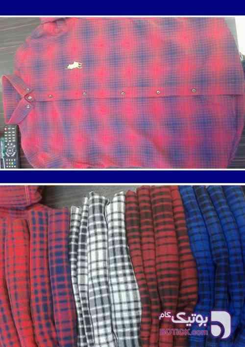 پیراهن چهار خانه کش فیروزه ای پيراهن مردانه