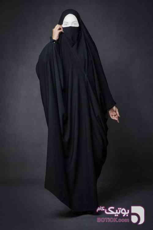مدل چادر بحرینی بدون آستین  مشکی چادر و مقنعه