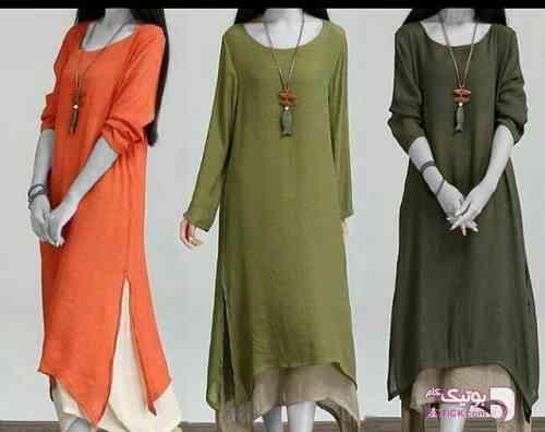پیراهن / مانتو تابستانی سبز پيراهن زنانه