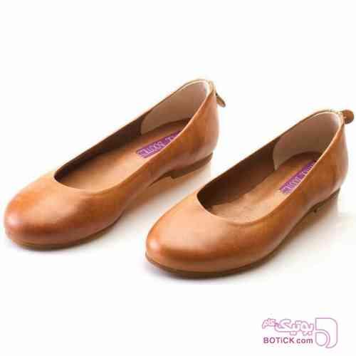 کفش زنانه چرم دست دوز وینتچ بوت آبی كفش زنانه