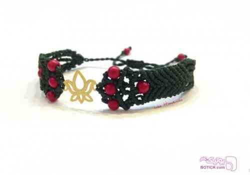 دستبند - مرجان - طلا مشکی دستبند و پابند