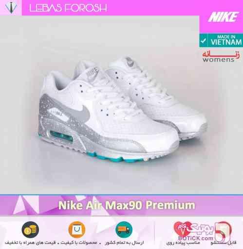 (زنانه) Nike Air Max 90 Premium سفید كتانی مردانه