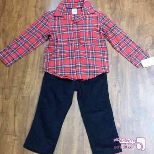 ست پیراهن و شلوار  مشکی لباس کودک پسرانه