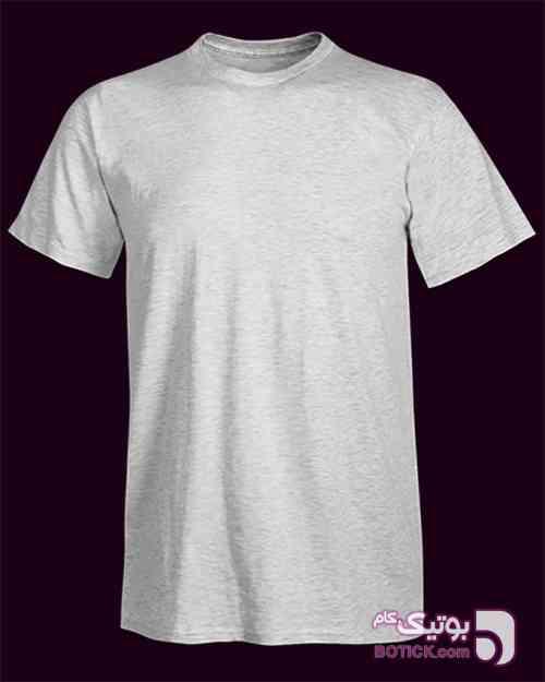 تیشرت ملانژ طوسی روشن سفید تی شرت مردانه