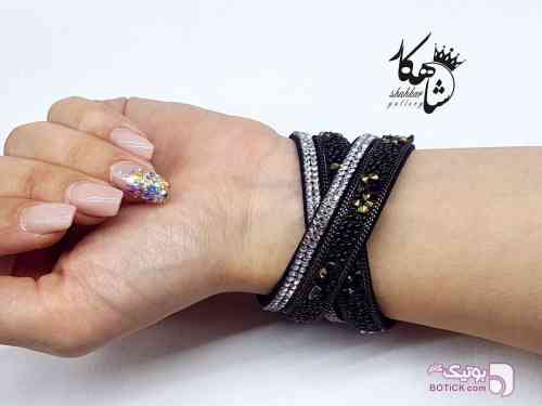 دستبندهای طرح SWAROVSKI  مشکی دستبند و پابند
