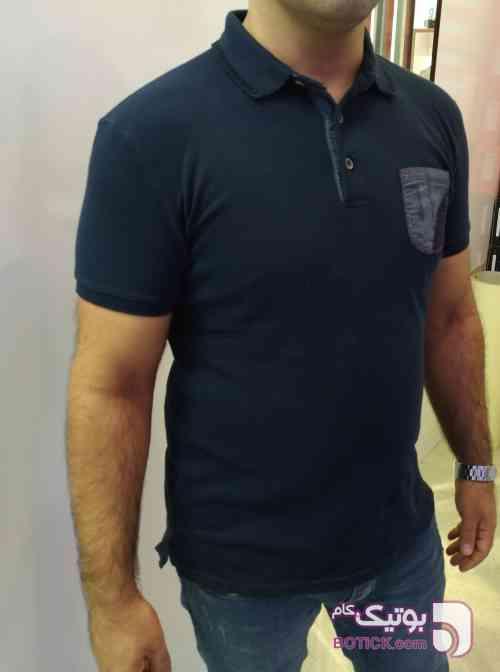 تیشرت یقه دار سورمه ای تی شرت مردانه